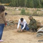 """Уничтожение противотанковой мины """"ТМ-62М"""" устройством """"Разрушитель Р-40"""" не вызывая детонации. Разминирование"""