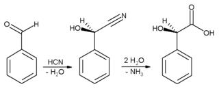 Синтез миндальной кислоты из бензальдегида